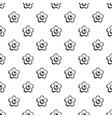 choco flower pattern seamless vector image