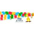 colorful festa junina celebration banner vector image vector image