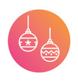 colorful gradient christmas ball decoration line vector image vector image