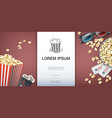 colorful movie theater template vector image vector image