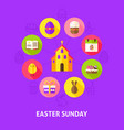 concept easter sunday vector image