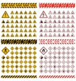 Danger sign collection vector image