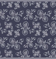 dark grey seamless pattern with abstract flowers vector image vector image