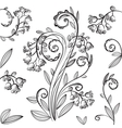 Decorative floral pattern with bluebells vector image vector image