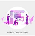 design consultant conceptual design vector image