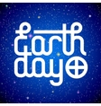 Earth Day lettering vector image vector image