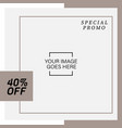 fashion social media square banner template vector image vector image
