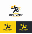 fast delivery logo design template vector image