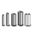 five batteries vector image vector image