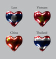 flags of the asian countries the flags of laos vector image vector image