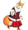 fox is from a fairy tale vector image vector image
