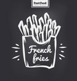 french fries poster with cool design vector image vector image