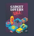 gadget lovers sale poster vector image