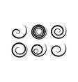 geometric spirals set design elements vector image vector image