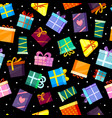 gifts boxes pattern colored xmas valentine vector image