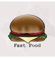 Hamburger in a watercolor style vector image vector image