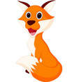 happy fox cartoon vector image vector image