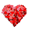 Heart from red paper for Valentine card vector image vector image