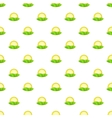 Hill and sun pattern cartoon style vector image vector image