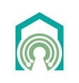 house tech logo concept- logo concept home vector image vector image