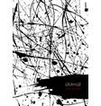 ink splatter template for cover poster flyer vector image vector image