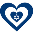 Israel Heart vector image vector image