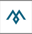 letter m icons logo vector image