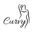 Logo plus size woman Curvy woman symbol logo vector image vector image