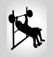 man exercising using weight bench vector image vector image