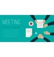 Meeting flat banner vector image vector image