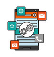 mobile app development vector image vector image