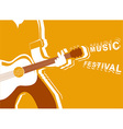 music festival poster with man musician and guitar vector image
