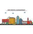 new mexico albuquerquecity skyline architecture vector image vector image
