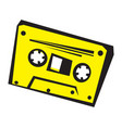 old audio cassette vector image
