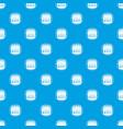 original burger pattern seamless blue vector image vector image
