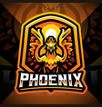phoenix esport mascot logo design vector image