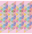 pink abstract background of colored triangles vector image