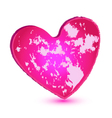 Pink grunge heart logo vector image vector image