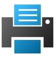 Print File Gradient Icon vector image