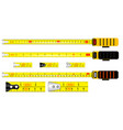realistic yellow tape measure vector image