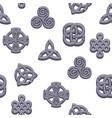 seamless pattern celtic symbols cartoon set vector image vector image
