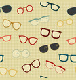 seamless pattern of hand drawn eye glasses vector image vector image