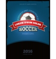 Soccer football vintage poster design vector image vector image
