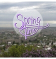 Springtime blurred background vector image vector image