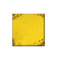 square yellow grunge frame vector image vector image