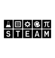 steam - science tech engineering art and math icon vector image vector image