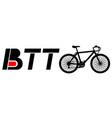 sticker btt vector image vector image