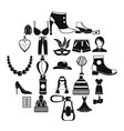 style icons set simple style vector image vector image