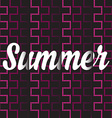 Summer posterTypography vector image