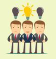 three hard thinking men vector image vector image